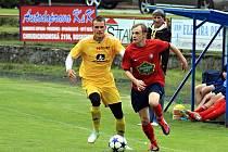 Fotbalisté Boskovic (v červeném) - ilustrační foto.