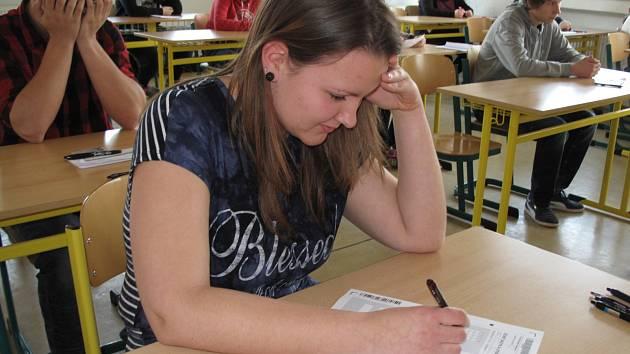 Do pilotního testování jednotných přijímacích zkoušek se ve středu zapojila například střední škola na Hybešově ulici v Boskovicích.