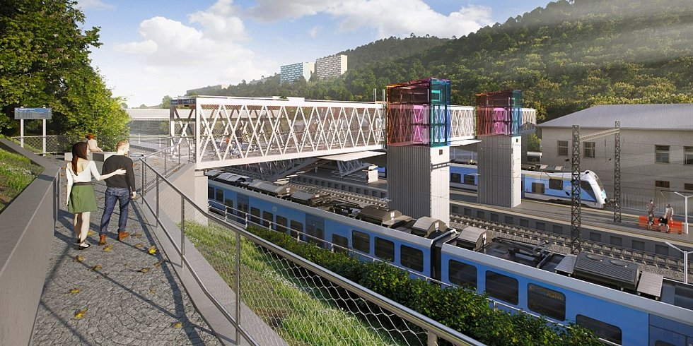 Dvě ostrovní nástupiště a nová lávka vzniknou v železniční stanici v Adamově na Blanensku.
