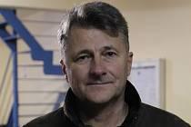 Trenér hokejistů Dynamiters Blansko Zdeněk Grünwald.