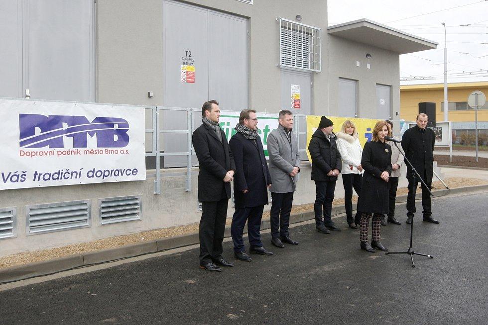 Brno 29.11.2019 - slavnostní otevření trolejbusové trati Novolíšeňská - Jírova