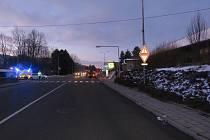 Na přechodu v boskovické Nádražní ulici Jeep srazil chodkyni.