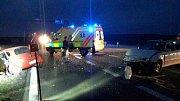 Nehoda dvou aut zkomplikovala provoz na silnici I/43 u Sebranic.