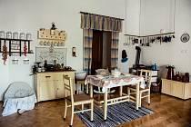 Expozice bydlení na blanenském zámku kuchyně