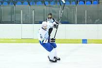 Hokejový obránce Dynamiters Blansko Jaroslav Hanzlík.