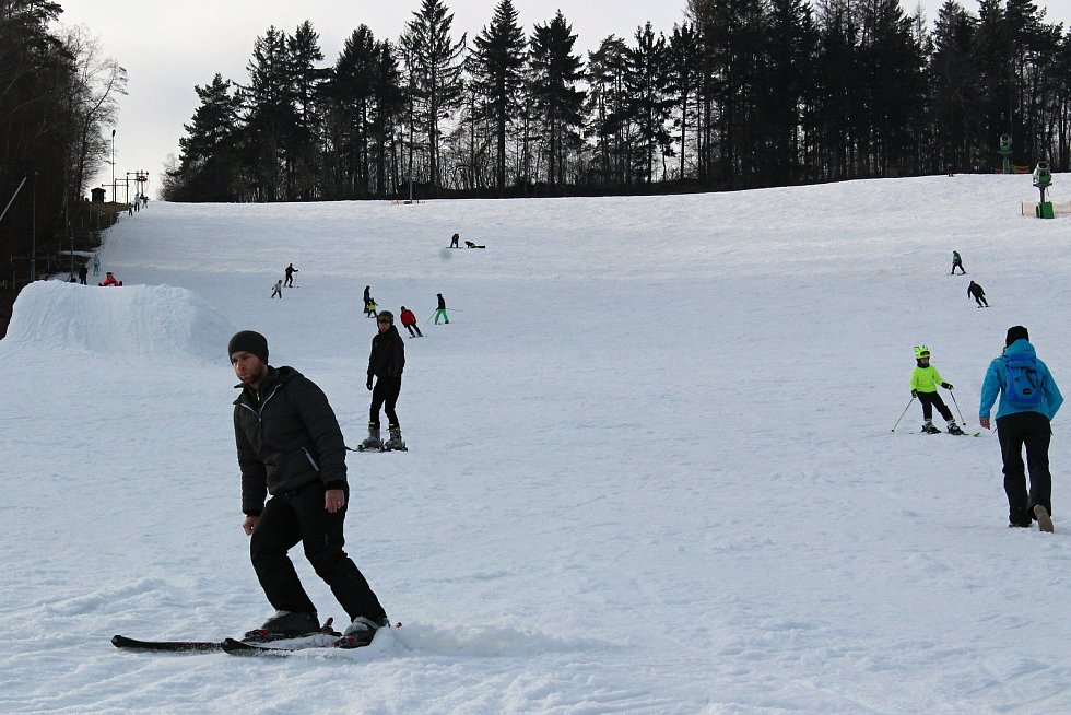 Ski areál v Olešnici.