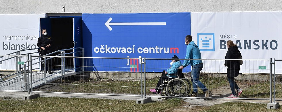 Očkovací centrum v Blansku.