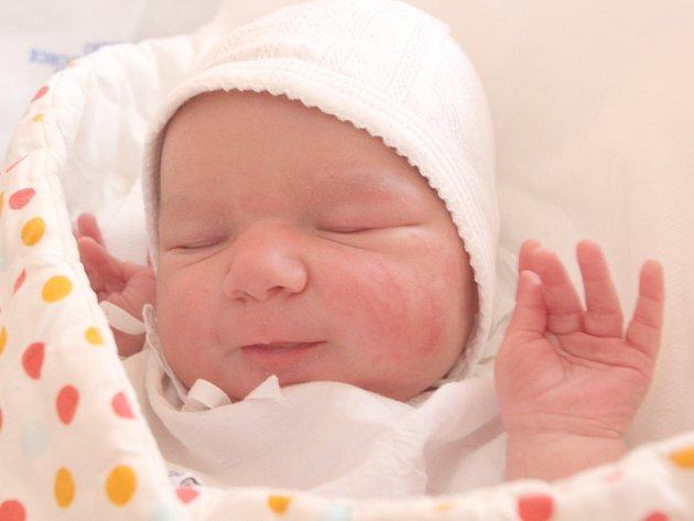 Julie Pavlíčková, 55 centimetrů, 4,20 kilogramu, 16. 1. 2017, Lysice, narozena ve FN Brno