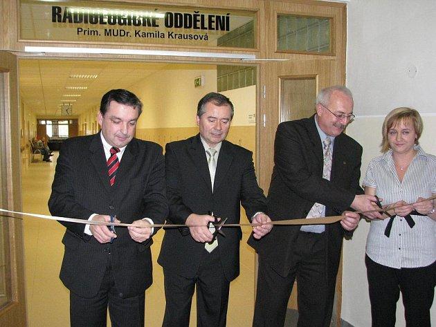 Slavnostní otevření nově zařízené radiologické oddělení boskovické nemocnice.