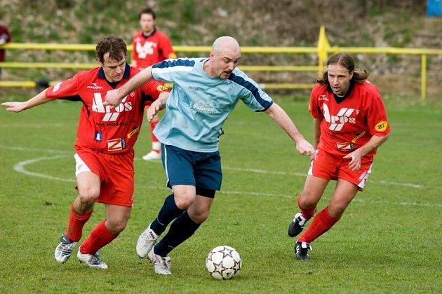 Momentka ze zápasu 19. kola divize D Blansko - Hulín 3:2