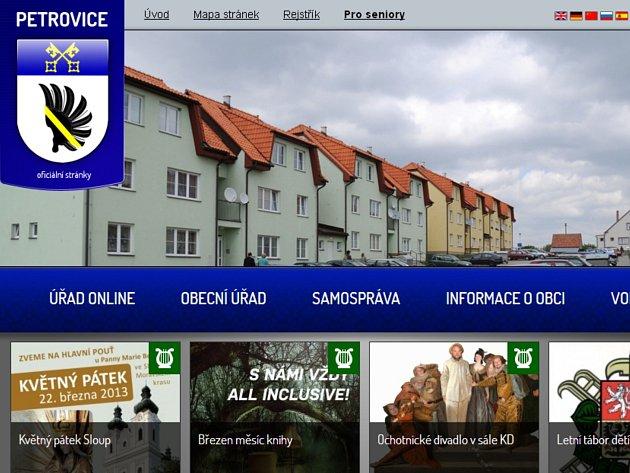 Oficiální stránky Petrovic.