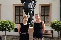 Magdaléna Roztočilová, sochařka původem z Boskovic, vystavuje své dílo v prostorách Senátu.