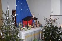 Betlém v kostele v Úsobrně.
