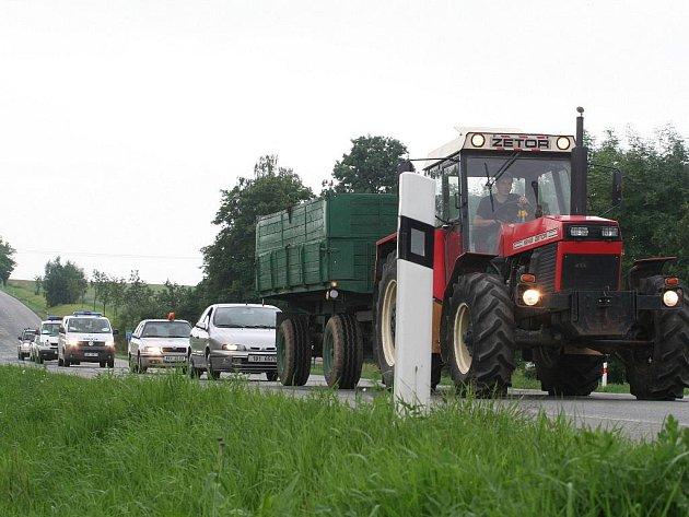 Protest zemědělců na Blanensku.