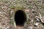 Výlet Moravským krasem. Vchod do Amatérské jeskyně.