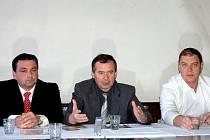 Jaroslav Černý se starostou Boskovic Jaroslavem Dohnálkem