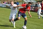 Ve 22. kole Fortuna Moravskoslezské ligy remizovali fotbalisté FK Blansko s 1. FC Slovácko B 1:1.