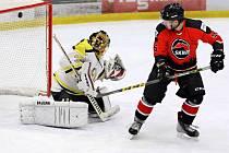 Snímky ze zápasu krajské hokejové ligy Minerva Boskovice - HC Uničov, který domácí vyhráli vysoko 11:3.