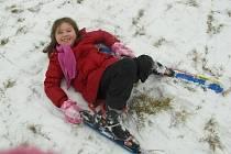 V neděli ve Valchově spustili dětský lyžařský vlek.