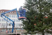 Na náměstí Republiky v Blansku stojí od úterý vánoční strom.