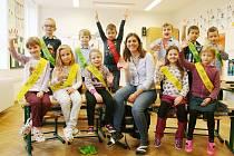 Žáci ze ZŠ Olomučany s paní učitelkou Barborou Divišovou.