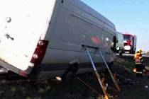 Vážné zranění cyklisty s dodávkou u Voděrad na Blanensku.
