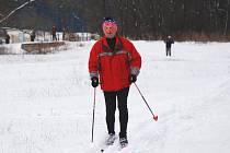 Když napadne sníh, jsou tratě v okolí Sloupu vyhledávaným cílem běžkařů.