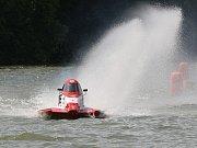 Závody motorových člunů na rybníku Olšovec - ilustrační foto.