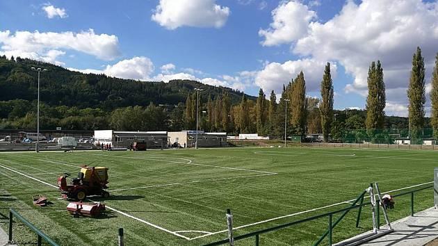 Fotbalové hřiště s umělým povrchem na Sportovním ostrově Ludvíka Daňka v Blansku. Ilustrační foto.