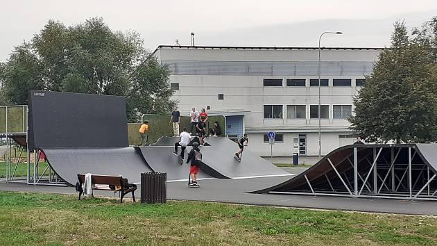 Blanenští otevřeli nový skatepark na Sportovním ostrově Ludvíka Daňka.