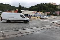 Adamovští opraví na náměstí Práce křižovatku. A rozšíří silnici pod kostelem svaté Barbory.