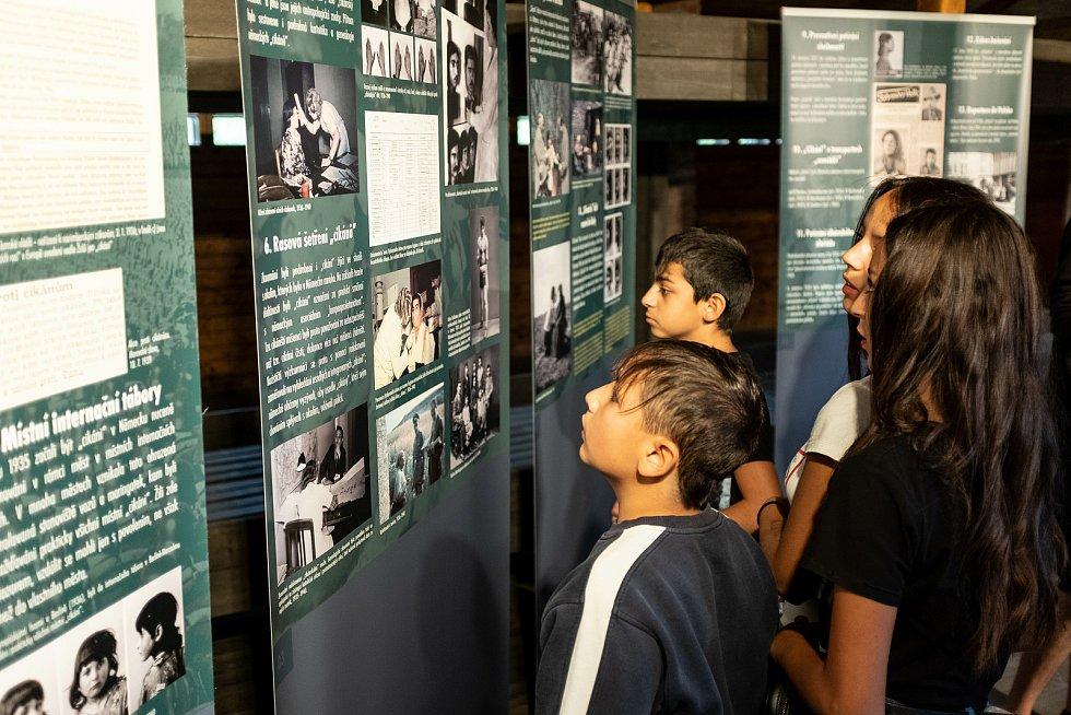 Pohled do stálé expozice památníku.