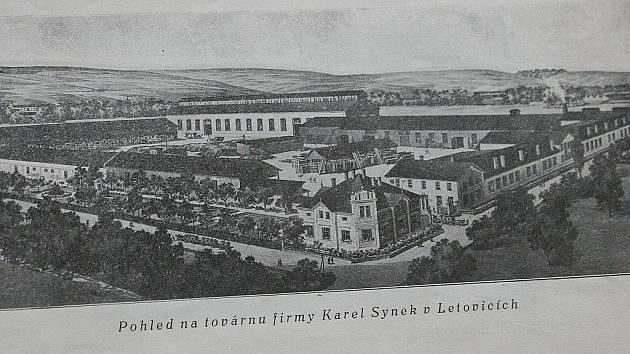 Pohled na továrnu firmy Karel Synek v Letovicích.
