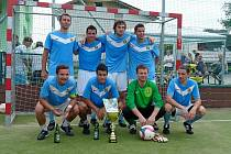 V roce 2013 vyhrál Ondřej Španěl s Lhotou u Lysic okresní pohár, teď má našlápnuto na titul v 1. lize.