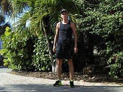Blanenský běžec Jan Kohut při svém pobytu v USA. Na Floridě strávil pět týdnů a naběhal stovky kilometrů.