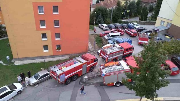 Požár adamovské bytovky