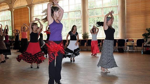 Tradiční festival iberské kultury začal v Boskovicích. Od středy fungují hudební a taneční dílny (na snímku lekce flamenca pro pokročilé), na večerních koncertech v Brně, Boskovicích a v Bratislavě se představí umělci z celého světa.