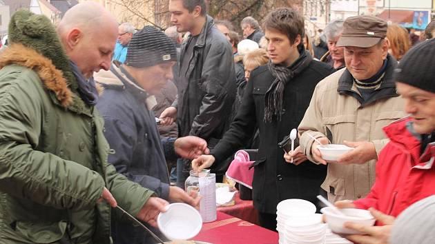 Polévka zdarma. Ilustrační foto