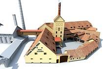 Centrum Sladovna ve vizualizaci.