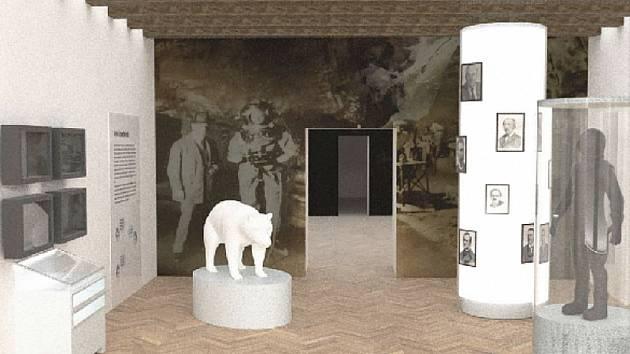 Vizualizace jedné z místností nové expozice.