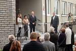 Slavnostní otevření nové třídy v mateřské škole v blanenské Dolní Lhotě.