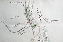 KUS ŽELEZNIČNÍ HISTORIE. Snímky zachycují části projektu železniční trati Líšeň–Jedovnice z března 1911. Stavět se však nikdy nezačalo.