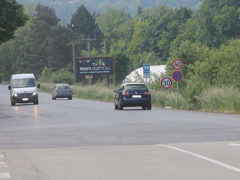 Pohled na část ulice Poříčí v Blansku.
