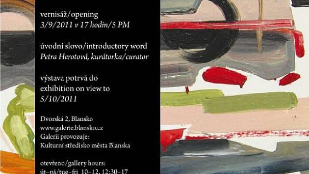 Pozvánka na výstavu malířky Krausové.