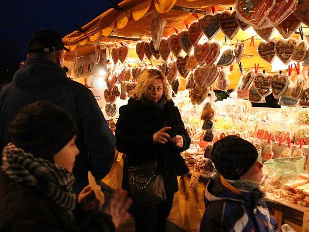 Vánoce na náměstí Republiky v Blansku.