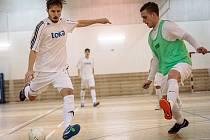 Utkání jihomoravské futsalové fivize Toka Brno - PRO-STATIC Blansko (v zelených dresech) skončilo nerozhodně 6:6.