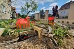 Zahradní železnice v blanenské Divišově ulici otevírá. Vláčky budou jezdit každou neděli.