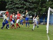 V dalším kole divize prohráli fotbalisté MSK Břeclav (žluté dresy) s FK Blansko 1:4.