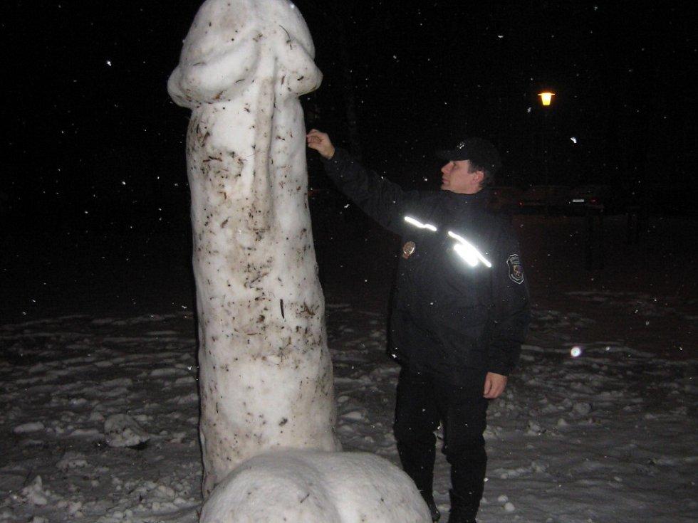 Obří sněhový penis