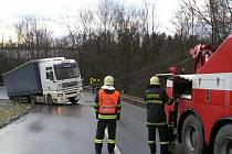 Nehoda kamionu u Sebranic.